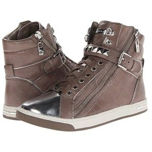MICHAEL KORS Glam Studded High Top Sneakers 8.5, 9